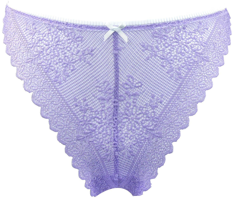4a1d670359dc Sexy Basics Women's 3 Pack Hi-Leg Brazilian Thong Lace Panties Active  Underwear at Amazon Women's Clothing store: