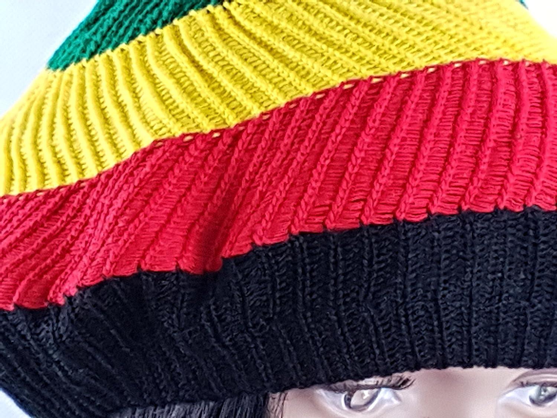 Igorbella Gorro de Rasta jamaicano Bob Marley Caribbean Fancy Rastafary Boina Cap 2 piezas