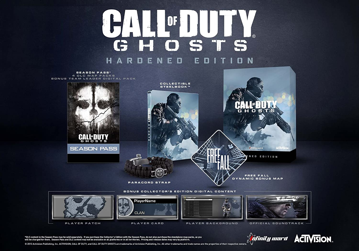 Amazon Com Call Of Duty Ghosts Hardened Edition Playstation 4