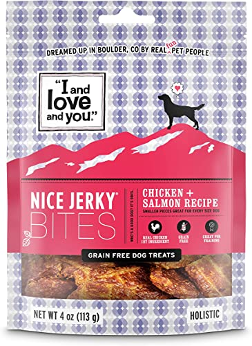 I and love and you Nice Jerky Bites – Grain Free Dog Treats Variety of Flavors