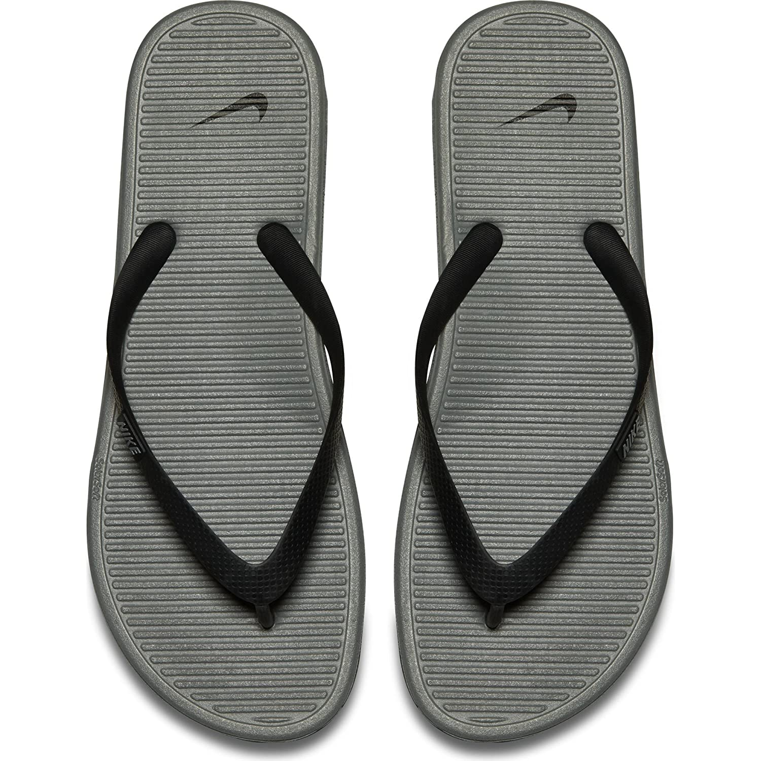 Nike Solarsoft Thong 2 Black Grey Mens Sandals