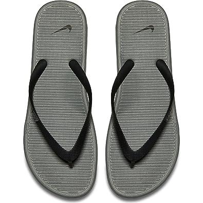 b0077787fcb Nike Women s Solarsoft Thong II Black Grey 488160-090 (SIZE  13 ...