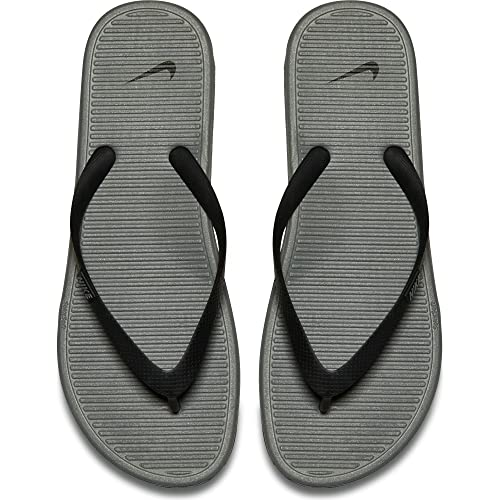 24c6cff50e999 Nike Solarsoft Thong II Black Grey Mens Sandals Flip Flops Size 13  Buy  Online at Low Prices in India - Amazon.in