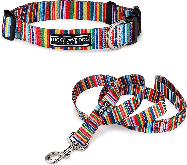 Lucky Love Product Dedication Dog Collar Leash Premi Large Set Small Medium