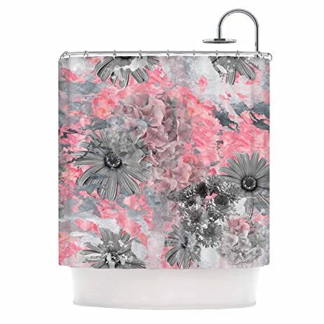 pink grey shower curtain. KESS InHouse Zara Martina Mansen  quot Floral Blush Pink Gray Shower Curtain Amazon com
