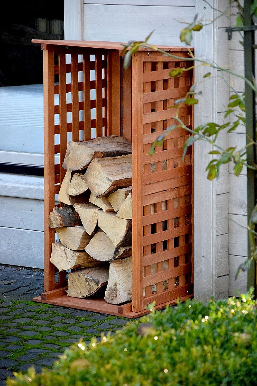 marron 39x 39x 85cm 29097FSC dobar 29097FSC à bois de cheminée en bois pour intérieur et extérieur dans le jardin
