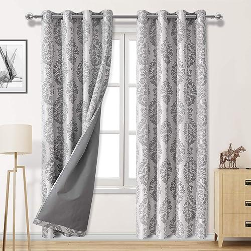 DWCN 100 Grey Blackout Curtains