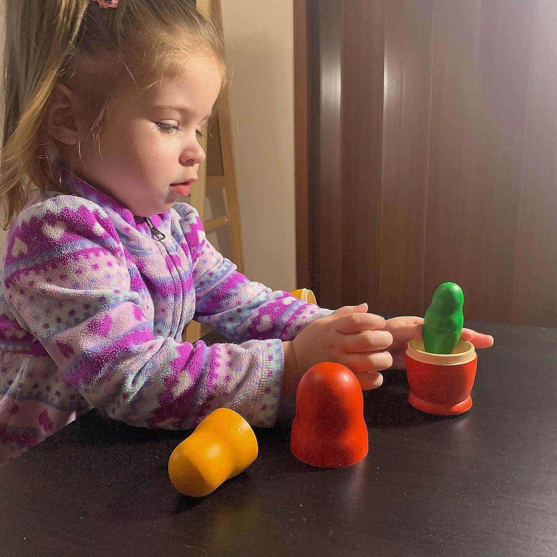 Russian doll Matryoshka Montessori Toys Rainbow Color Eco Toy Wooden Kids Nesting Doll