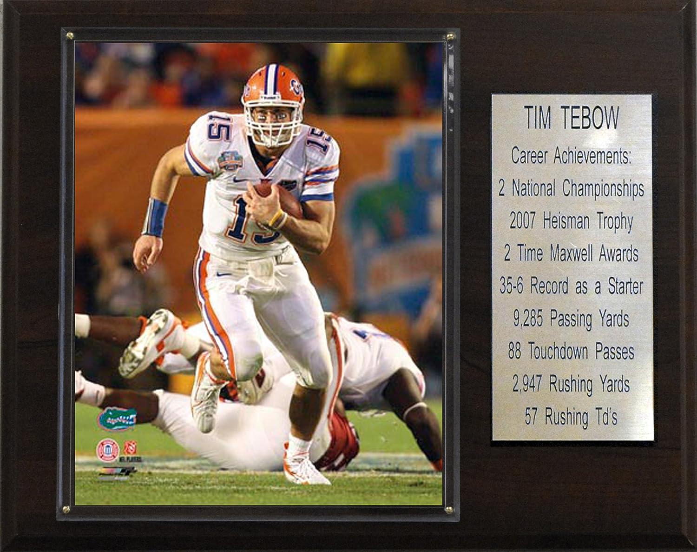 NCAA Football Tim Tebow Florida Gators Career Stat Plaque