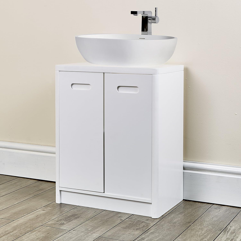 Good New Under Sink Cabinet Bathroom White Furniture For Fitting Pedestal Sink  (Hampton White Under Sink Cabinet): Amazon.co.uk: Kitchen U0026 Home