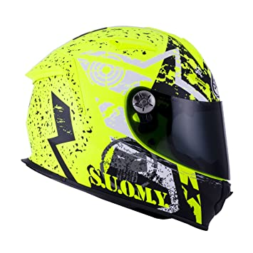 SUOMY SR Sport - Casco para Moto Integral, Multicolor (Stars Yellow Fluo),