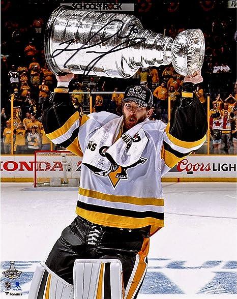 Matt Murray Pittsburgh Penguins 2017 Stanley Cup Champions Autographed  8 quot  x 10 quot  Raising Cup 33cf766c8