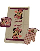 Disney 3 Piece Kitchen Set Minnie Mouse Plaid