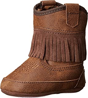 cb90a1cce37 Amazon.com | Wee Kids Baby-Girls Suede Cloth Western Baby Boots ...