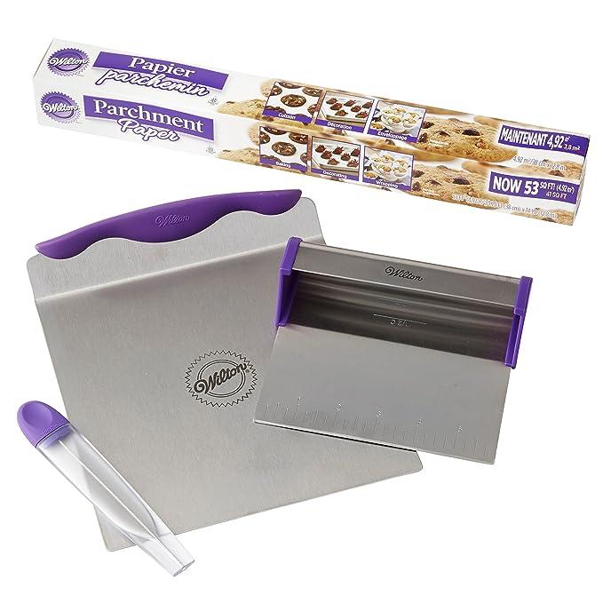 Wilton - Moldes para pasteles de herramientas y set de papel de pergamino: Amazon.es: Hogar