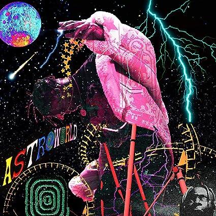 ed31e91304a9 Amazon.com: WeTheBlueprint - Travis Scott 'AstroWorld' Custom Album ...