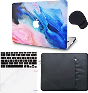 LuvCase 5in1 LaptopCase for MacBookAir 13 Inch(Touch ID) (2018-2020) A1932 Retina DisplayHardShellCover, Sleeve, Mouse Pad, Keyboard Cover and Screen Protector(Oil Paint 4)