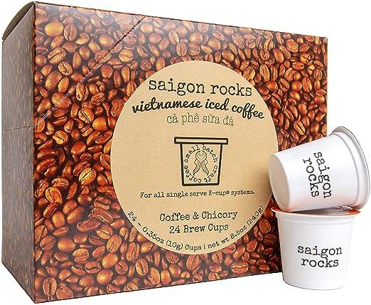 Vietnamese Coffee Kcup SAIGON ROCKS for Vietnamese Iced Coffee (24 ct): Amazon.com: Grocery & Gourmet Food