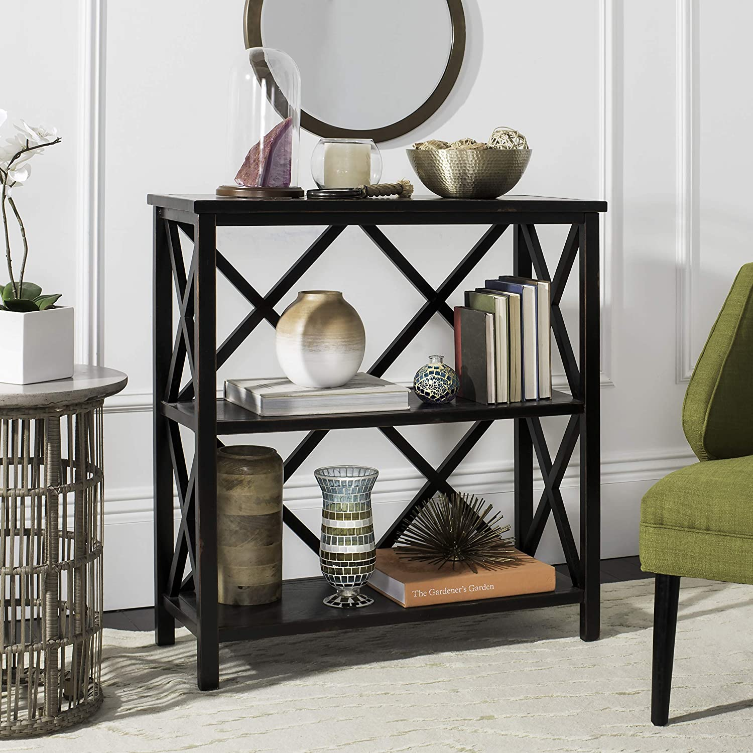 Safavieh American Homes Collection Lucas Distressed Black Etagere