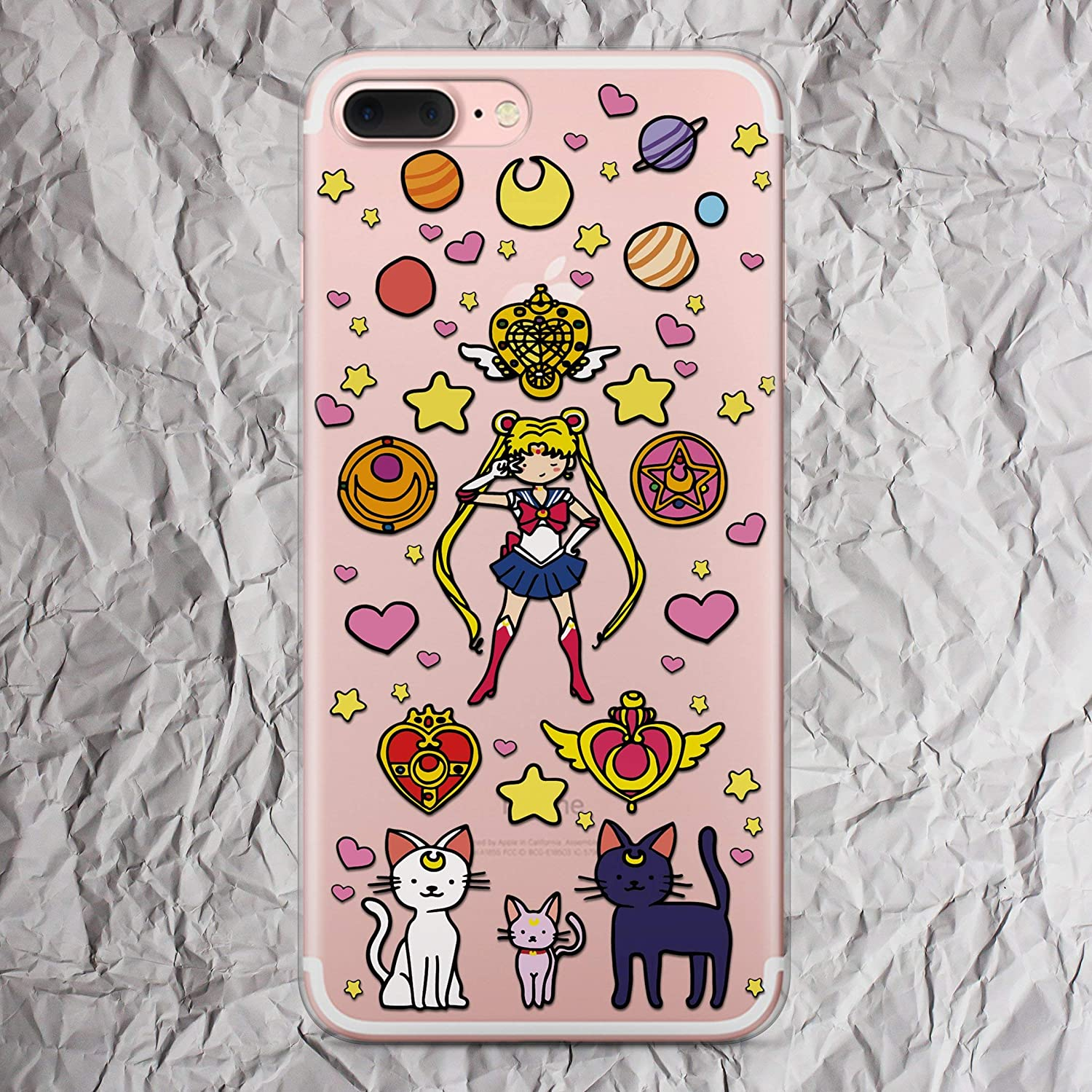 reputable site 57fb1 def6f Amazon.com: Sailor Moon Phone Case for Anime iPhone Xs Max X Xr 7 8 ...