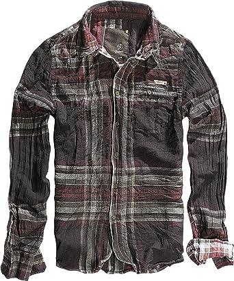 brandit Raven Wire Hombre Camisa Choco-red B-4010 Choco-Red small: Amazon.es: Ropa y accesorios