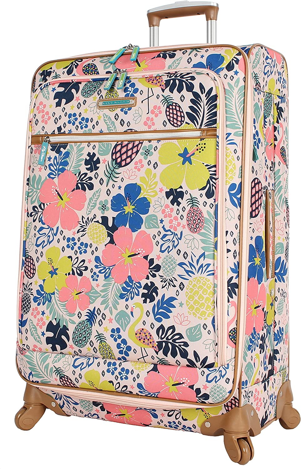 NWT Lily Bloom Kathryn Crossbody Double Section Tropical Pineapple New SHP INTL