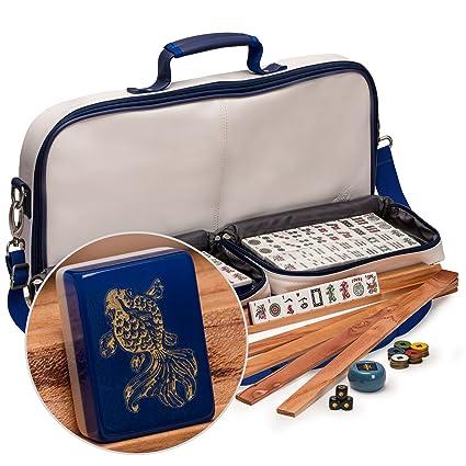 Amazon. Com: yellow mountain imports american mahjong set with 166.