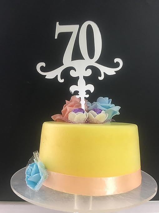 Amazon.com: ShinyBeauty Cake-Topper-70th-Birthday,Number 70 Cake ...