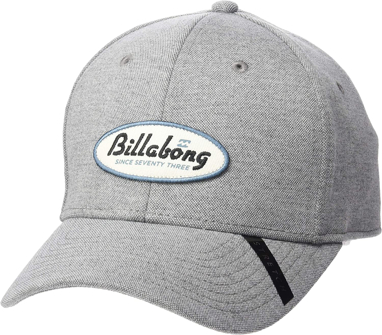 Billabong Mens Classic Hat, Grey Heather Walled Stretch, S/M ...