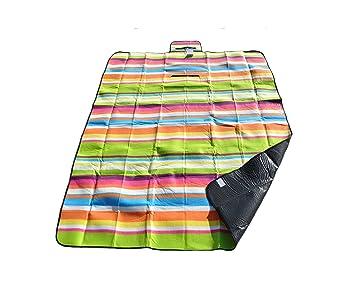 Manta picnic, toalla playa, alfombra dormitorio, impermeable, aislamiento térmico camping camper, RIGHE: Amazon.es: Deportes y aire libre