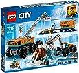 LEGO 60195 City Arctic Mobile Exploration Base Toy, Crane Vehicle Platform and Trailer, Construction Toys for Kids