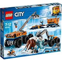 LEGO City Arctic Mobile Exploration Base 60195 Building Kit, Snowmobile Toy and Rescue Game