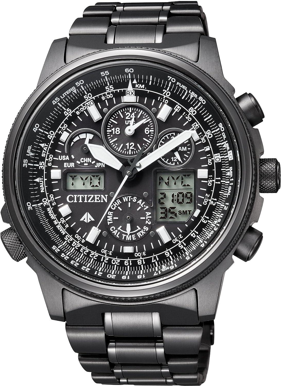 [シチズン]CITIZEN 腕時計 PROMASTER プロマスター Eco-Drive エコドライブ 電波時計 SKYシリーズ DLC仕様 JY8025-59E メンズ B00CHEOBPM