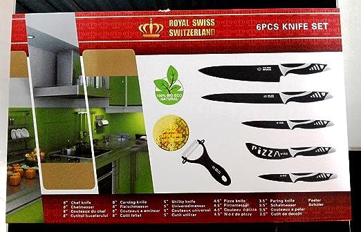 Royal swiss juego de cuchillos de 6 piezas (5 piezas + ...