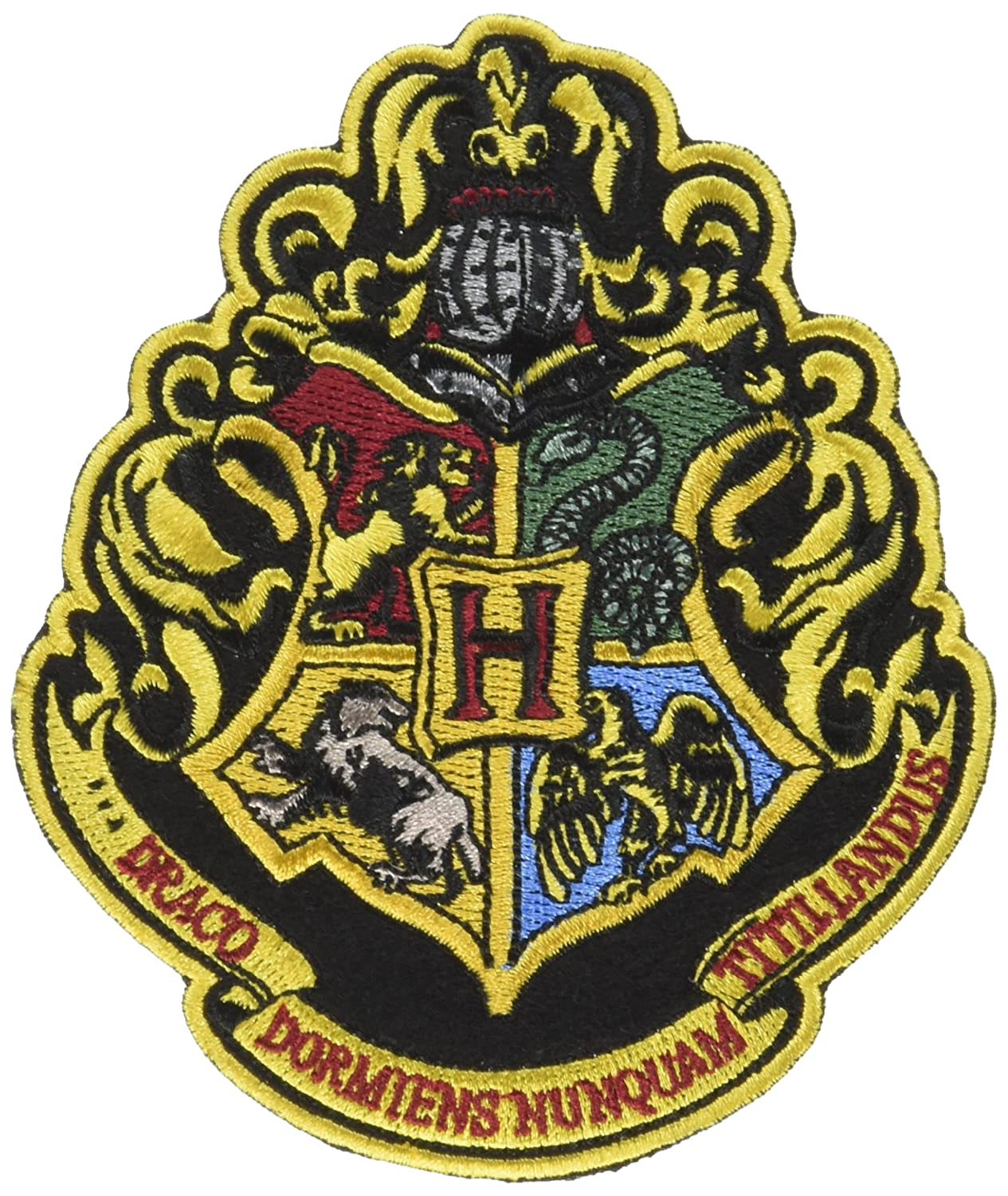 Amazon Harry Potter The 4 Houses Of Hogwarts Crest Patch 4 12