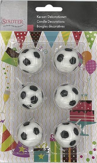 6 Kerzen Fussballe Fur Geburtstag Und Motto Party Kuchen