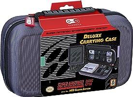 Nintendo Deluxe–Estuche de viaje–para SNES y NES Classic Ediciones