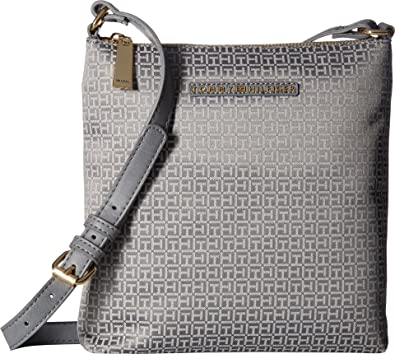 57815d2891fc Tommy Hilfiger Women s Pauletta North South Crossbody Mini Gray Tonal Crossbody  Bag  Handbags  Amazon.com