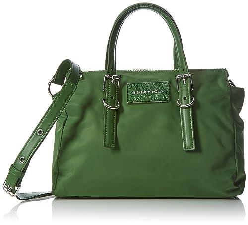 ce9f31e20 Bimba & Lola - Bolso de hombro para mujer, color verde, talla única ...