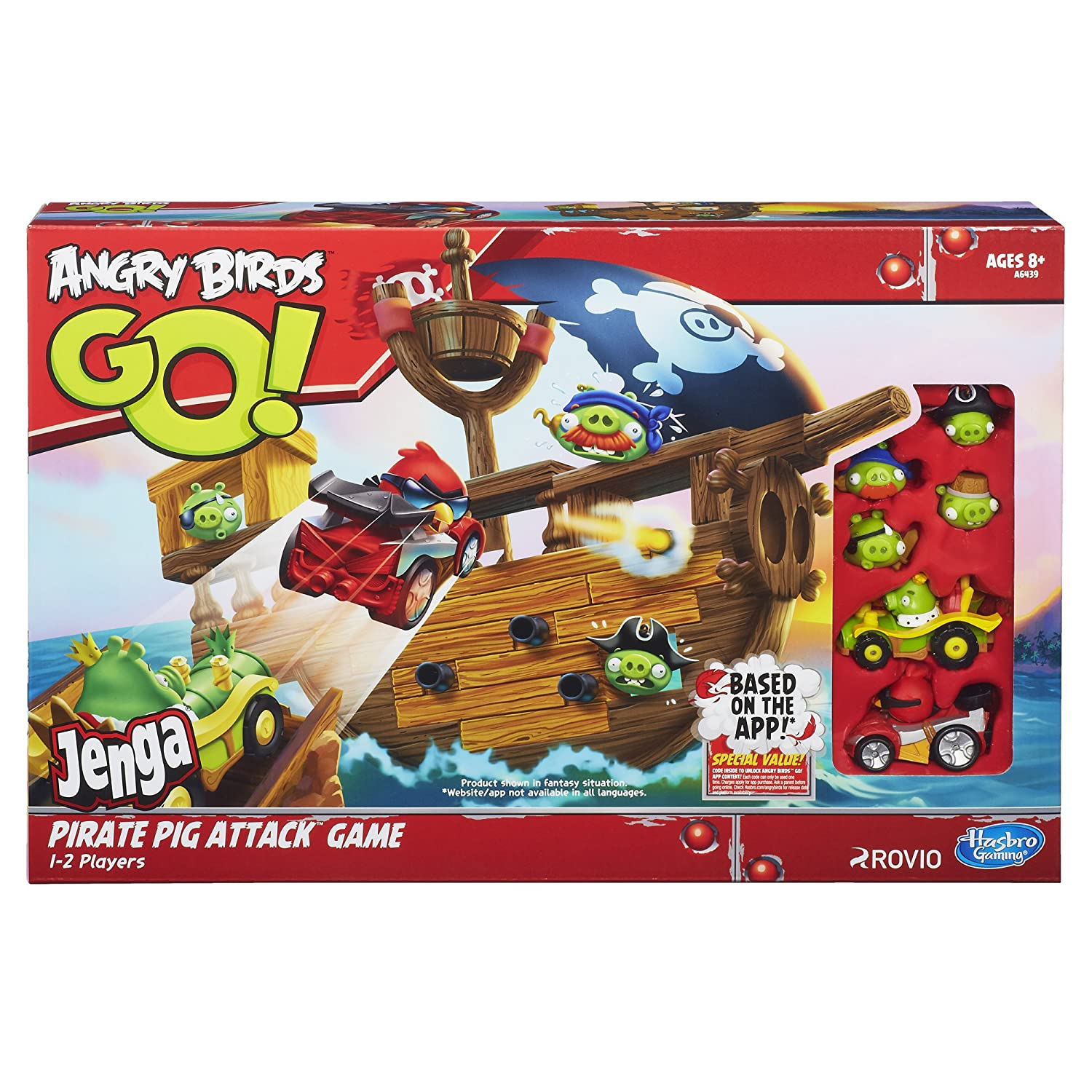 Amazoncom Angry Birds Go Jenga Pirate Pig Attack Game Toys Games
