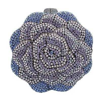Amazon.com: Gunmetal Plated Sapphire y tanzanita Rose ...