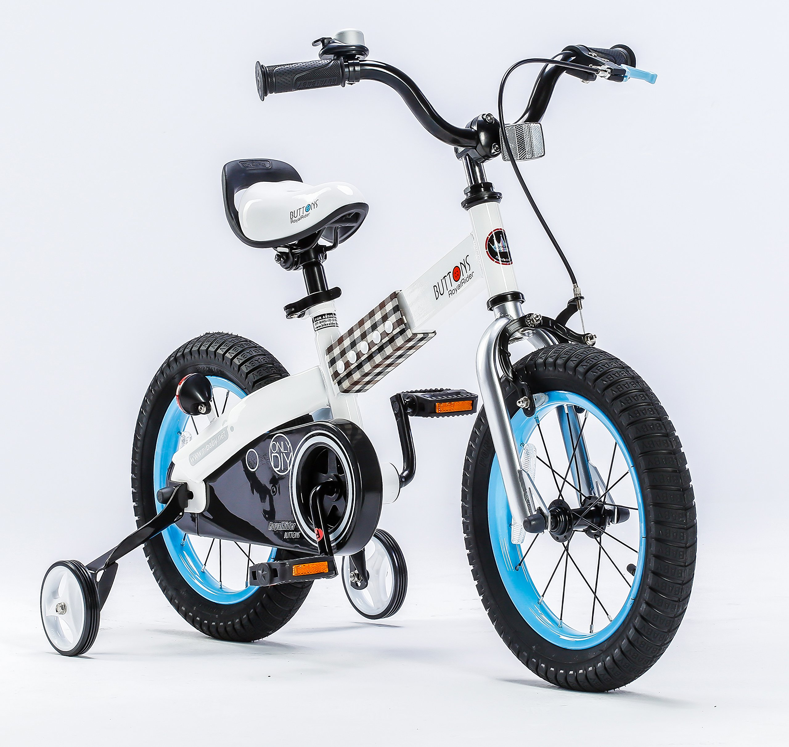 RoyalBaby Honey and Buttons Kids Bike, 12 14 16 18 inch Wheels, Gift for Boys and Girls