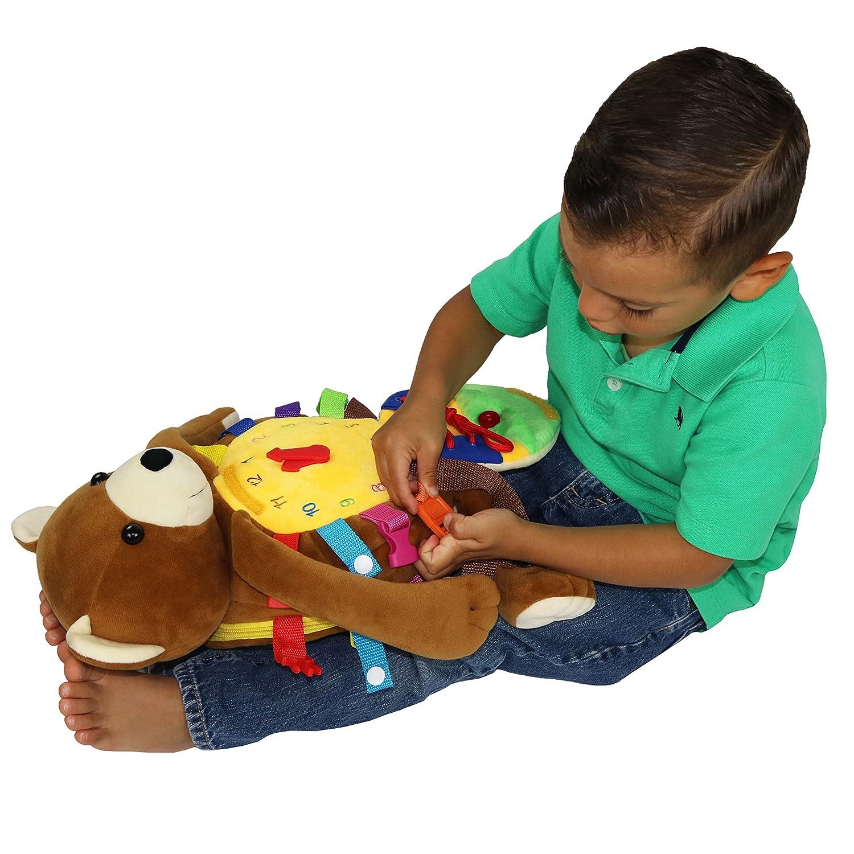 Buckle Toys Billy Backpack Bear