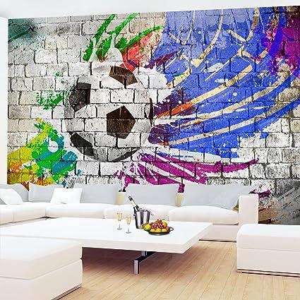 Photo Wallpaper Graffiti Football 352 X 250 Cm Fleece Wallpaper