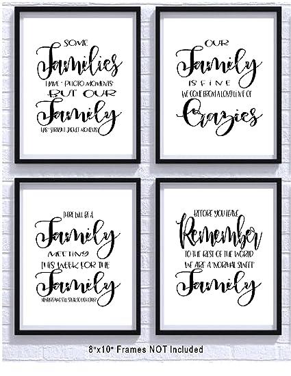 Amazon TheNameStore Family Quotes And Sayings Art Prints Set Enchanting Great Sayings