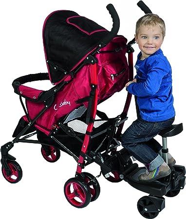Fillikid - Tabla Filliboard para niño acoplada a carrito de bebé, giratoria 180° y con un asiento con 3 alturas ajustables | tabla de pasajero Filliboard ...