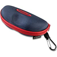 TOPSIDE Funda gafas rígida (negro, azul o rojo). Apertura y cierre con cremallera, mosquetón para enganchar