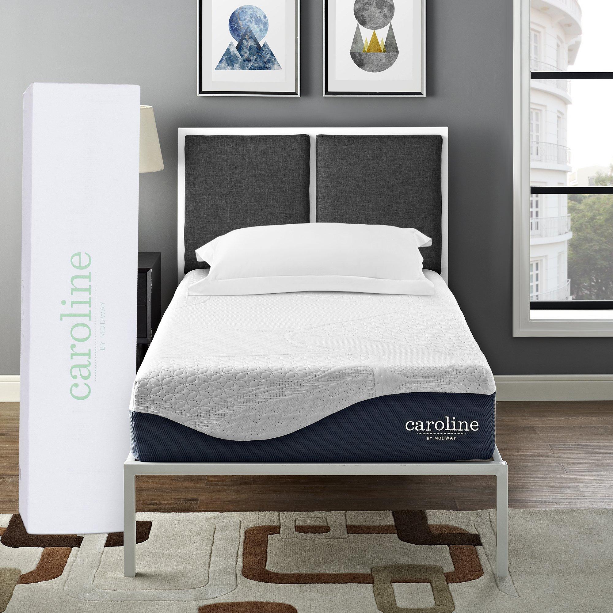 Modway Caroline 10'' Cooling Air Gel Memory Foam Twin Mattress With CertiPUR-US Certified Foam - 10-Year Warranty