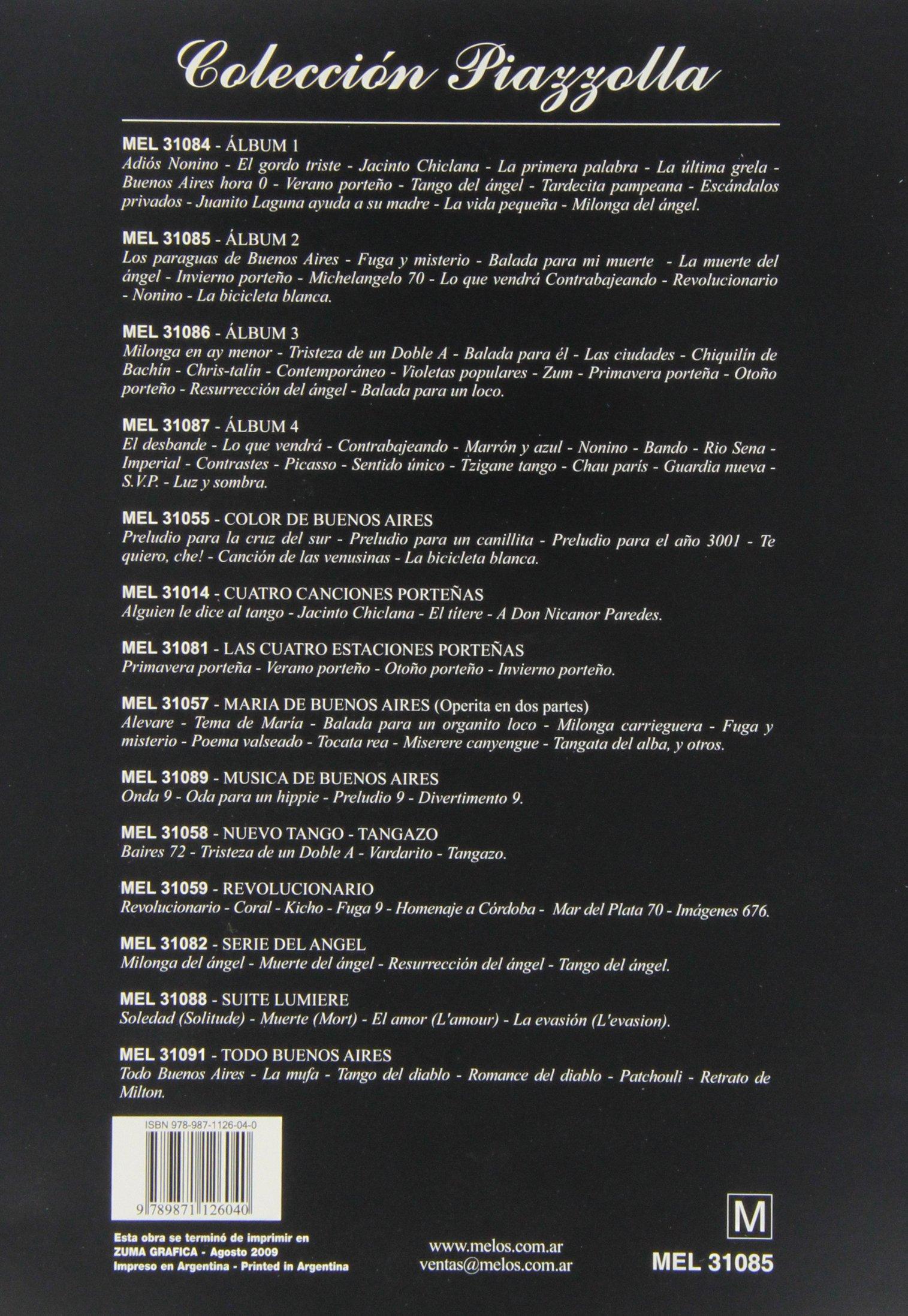 PIAZZOLLA - Album 2º para Piano: PIAZZOLLA: 9789871126040: Amazon.com: Books