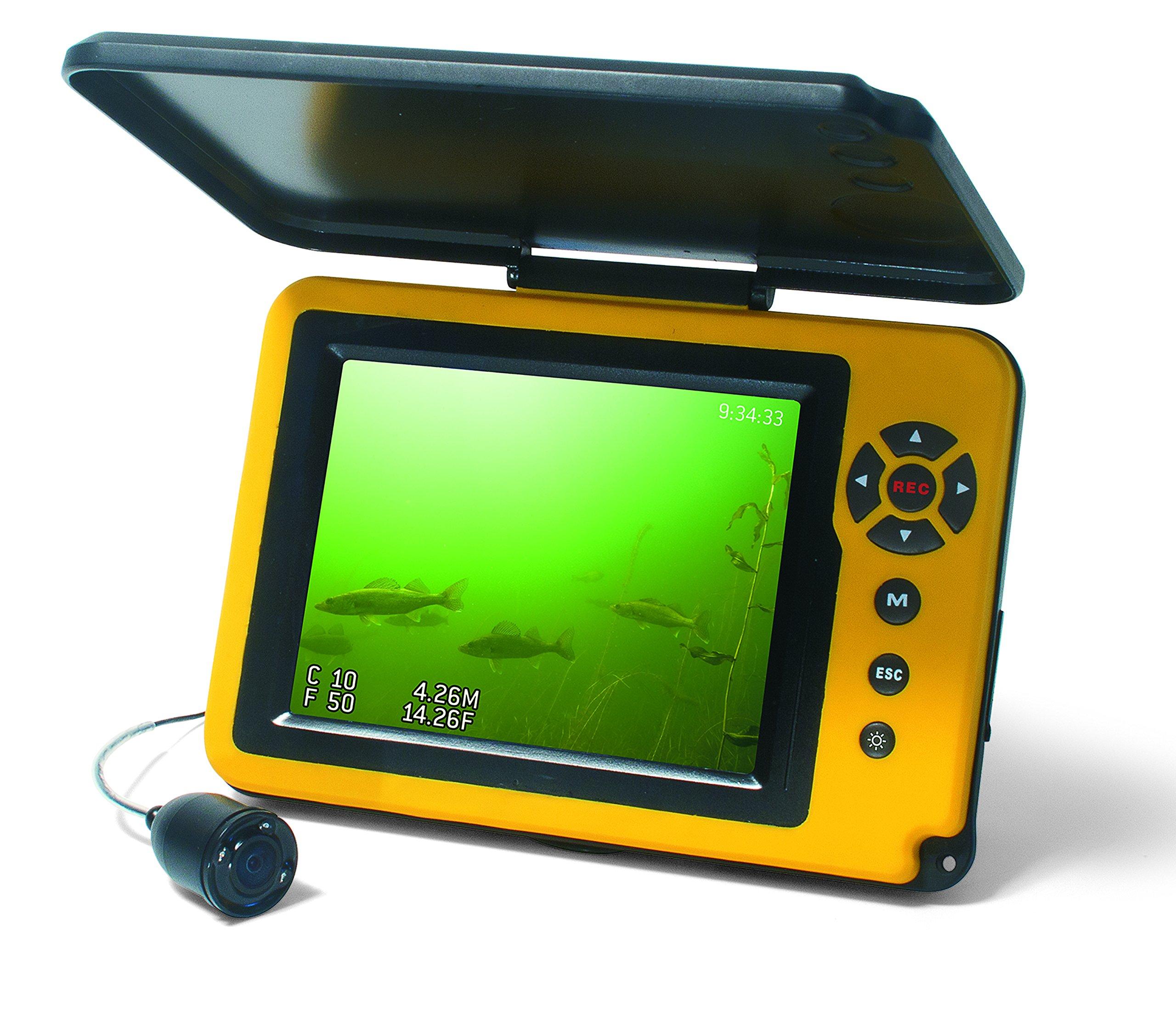 Aqua-Vu AV Micro 5 Plus DVR-DTS Depth & Temperature Underwater Camera with Revolution Cable Management Spool by Aqua-Vu